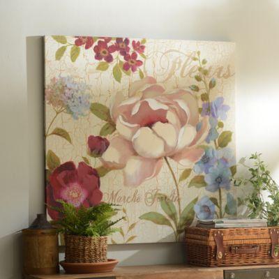 Floral Market Canvas Art Print   Kirkland's