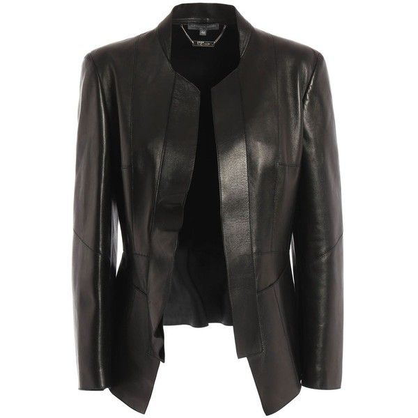 Alexander Mcqueen Leather Jacket ($2,970) ❤ liked on Polyvore featuring outerwear, jackets, black, 100 leather jacket, real leather jackets, alexander mcqueen, leather jackets and genuine leather jackets