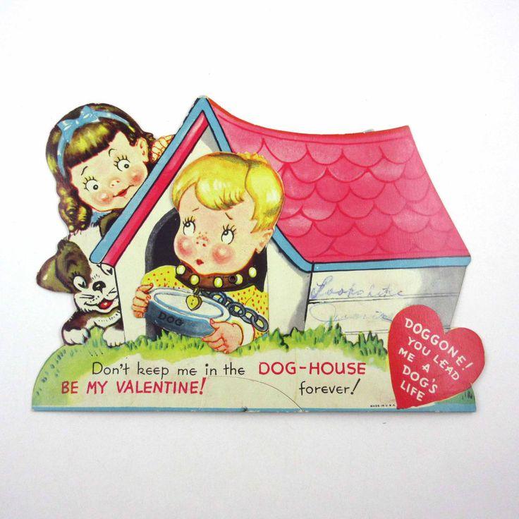 1647 best images about Vintage Valentines – Boy Valentines Cards