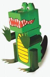 box crocodile craft