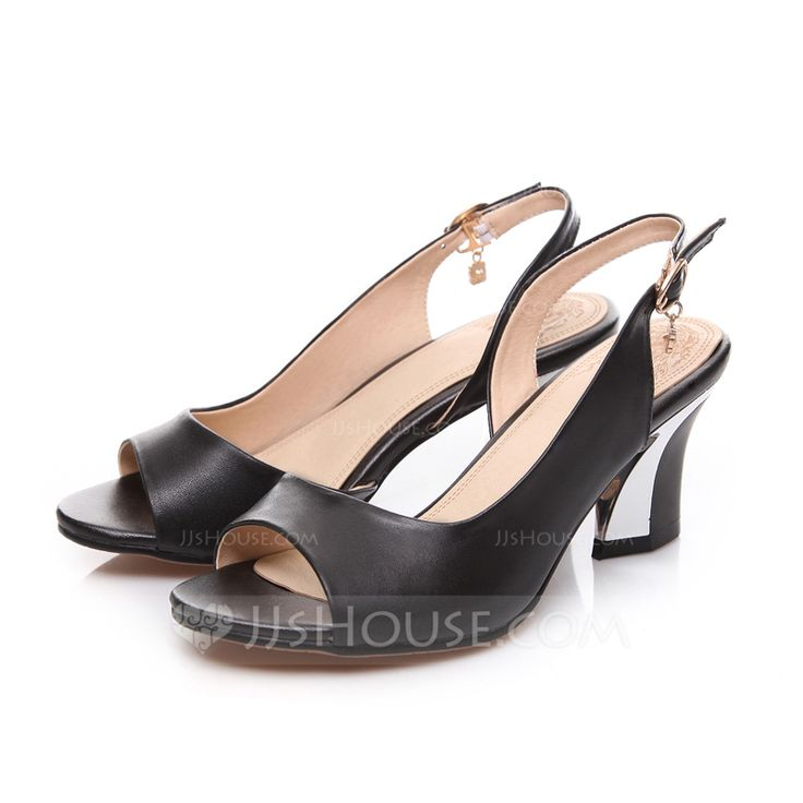Women's Sandals Slingbacks Chunky Heel Real Leather Sandals