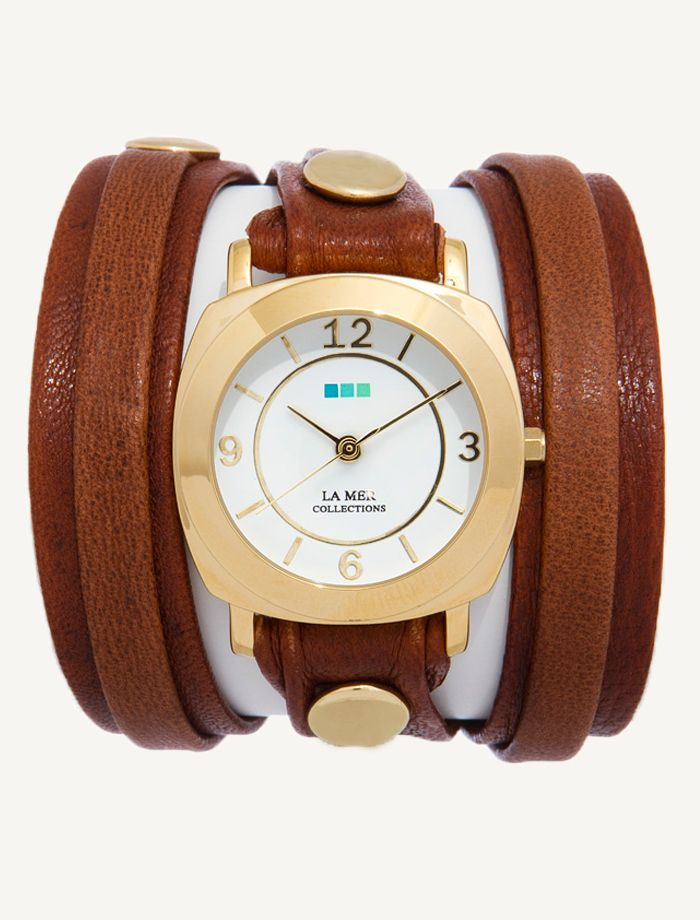 La Mer Watches: Wash Brown Layer Odyssey Wrap