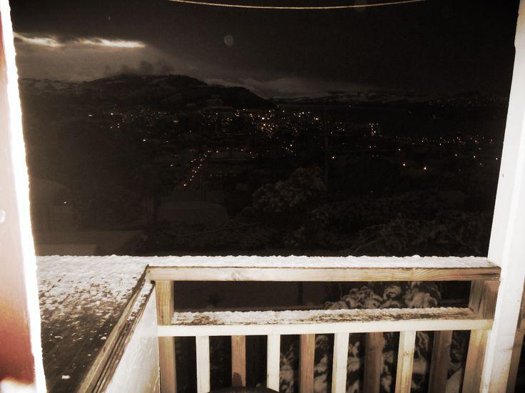 Snow in Dunedin? It can't be...