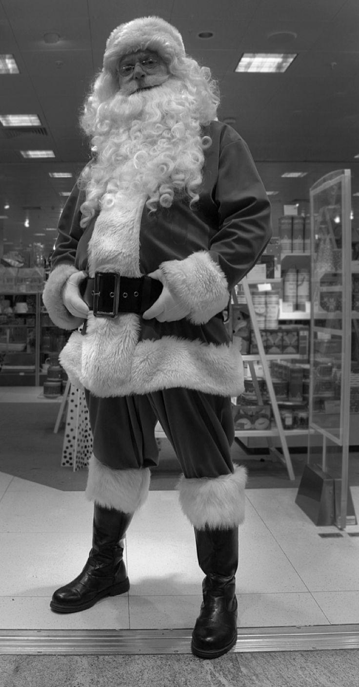 'Doorman Bouncer Santa' John Lewis Department Store, Southampton 2013