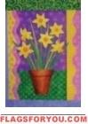 Daffodils Growing Garden Flag - 6 left