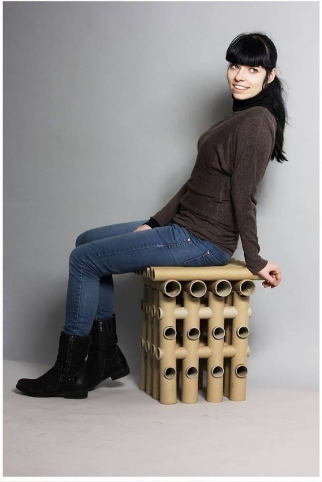 """Kėdė """"Yourtube"""", dizainerė Dovilė Smindriūnaitė, ES -aliojo dizaino konkursas, 2014, 2 vieta. Chair """"Yourtube"""", designer Dovile Smidriunaite"""