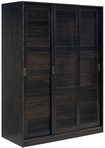 Merveilleux Grand Java Solid Wood 3 Sliding Door Wardrobe W/1 Shelves