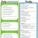 Home Management Binder Printables Daily and Weekly Chore Schedule  Organizing Homelife