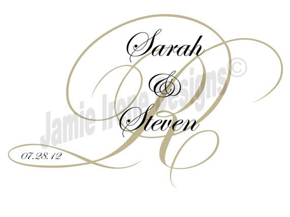 #Custom Designed #Wedding Monogram by WeddingsByJamie
