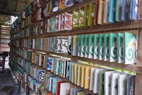 Sadus Tiles handmade cement tiles from Bali  でセメントタイル選び @ Tabola, Sidemen ('12年5月) : 道楽のススメ