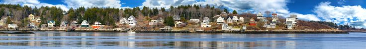 Composite Panorama of Bay Point, Georgetown, Maine. Taken from Popham Beach with the Canon EOS 7D Mark II and an iPhone 7.