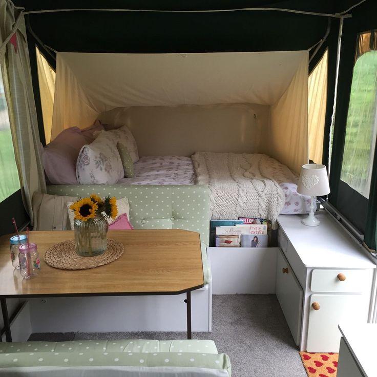Shabby Chic Conway Tardis Folding Camper Trailer Tent Refurbished Glamping | eBay
