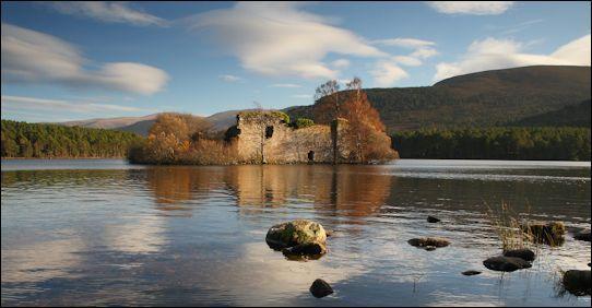 Loch an Eilean castle ruins, Cairngorms, Scotland