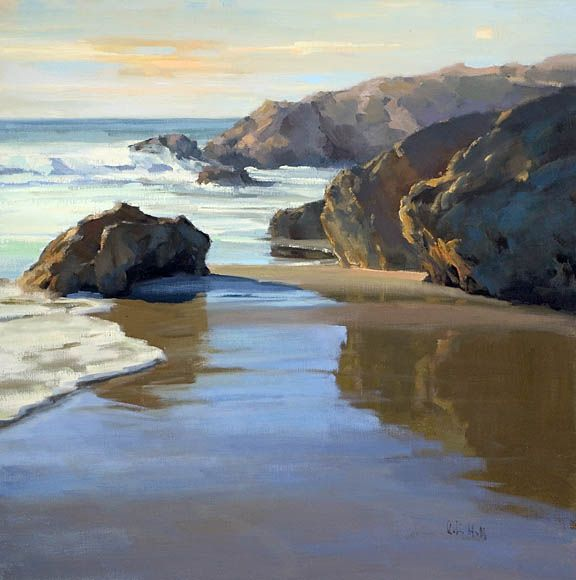 """rocks and water - """"mirrors in the sand"""" - Robin Hall"""
