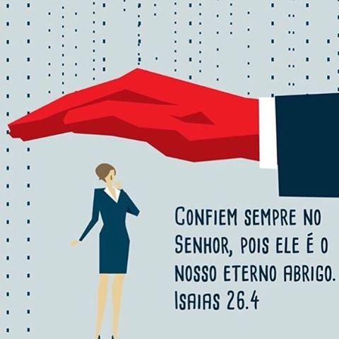 """➡️""""Confiem sempre no Senhor, pois ele é o nosso eterno abrigo."""" Isaías 26:4 NTLH   ✨✨✨✨✨✨ #amem #salmos #deus #jesus #salvador #salvação #senhordaminhavida #senhor #vida #vidaeterna #versículo #versículododia #bíblia #palavradodia #fé #perseverar #crer #aleluia #gloriaaDeus #libertação #novoconvertido #novaconvertida #conversão #Jesusestávoltando #ungido #ungida #ungidodosenhor #ungidadoSenhor ✨✨✨✨✨✨ Créditos da imagem: Sociedade Bíblica do Brasil @sbb.Brasil"""