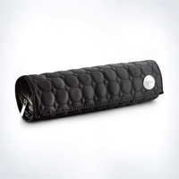 ghd heat-resistant mat and styler storage in a roll-up bag