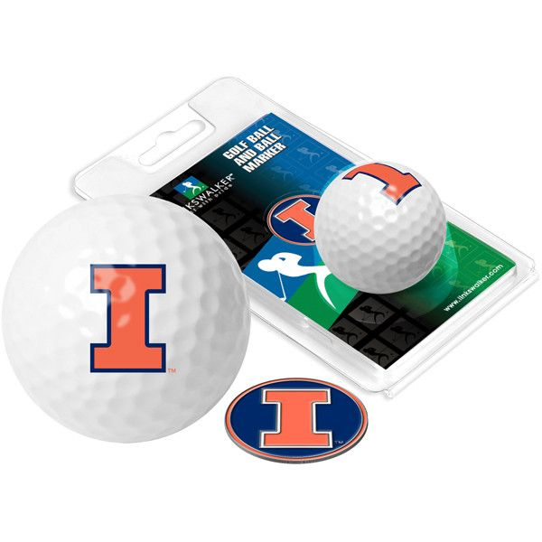 Illinois Fighting Illini - Golf Ball One Pack with Marker