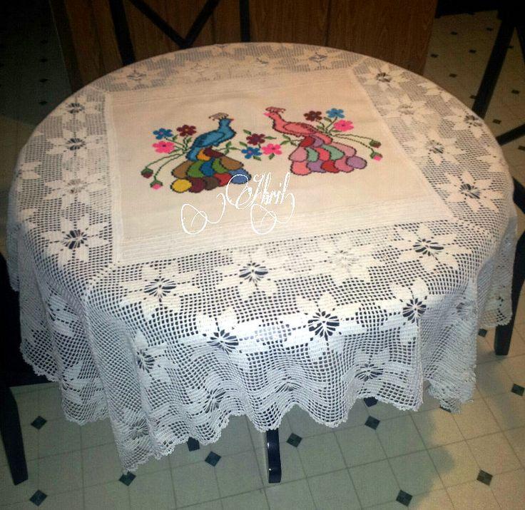 Mantel. Tablecloth ...