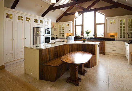 Bespoke Solid Wood Hand-Made Island Diner Family Kitchen Gallery - Handcraft Furnishings, Tubbercurry, County Sligo, Ireland.