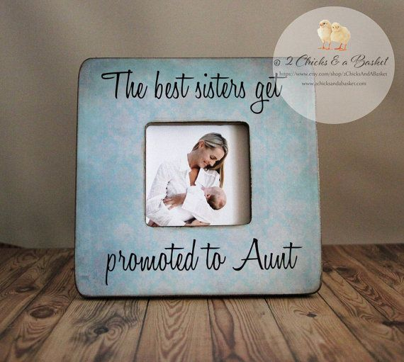 the best sisters get promoted to aunt personalized picture frame auntie gift aunt picture frame