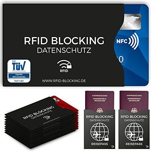 TÜV geprüfte RFID Blocking NFC Schutzhüllen (12 Stück) für Kreditkarte, Personalausweis, EC-Karte, Reisepass, Bankkarte, Ausweis – 100% Schutz gegen unerlaubtes Auslesen – Kreditkarten RFID Blocker – AmazingMarket.de