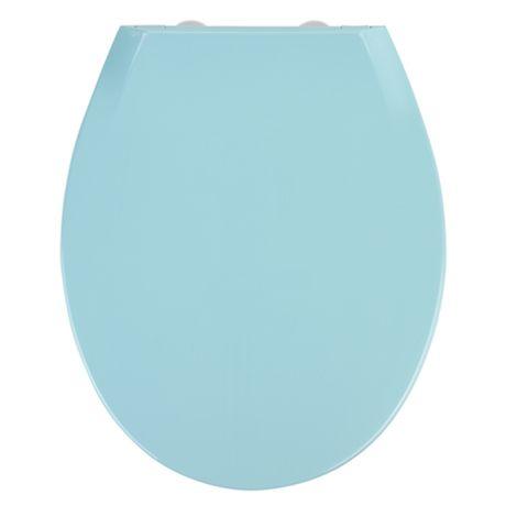 coloured soft close toilet seat. wenko kos soft close toilet seat - blue coloured