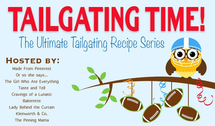 Welcome to Week Two of some of the most savory and sweet Tailgating Food ideas ever from some pretty amazing bloggers! I know what you are asking yourself. What? I missed Week One? Never fear. If you indeed missed round one of our suggested cuisine for your football viewing pleasure last week, just click HERE …