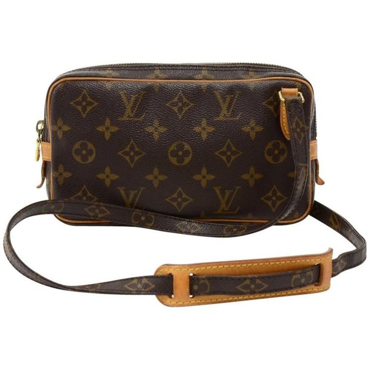 Louis Vuitton Pochette Marly Bandouliere Monogram Canvas Shoulder Bag   From a collection of rare vintage crossbody bags and messenger bags at https://www.1stdibs.com/fashion/handbags-purses-bags/crossbody-bags-messenger-bags/