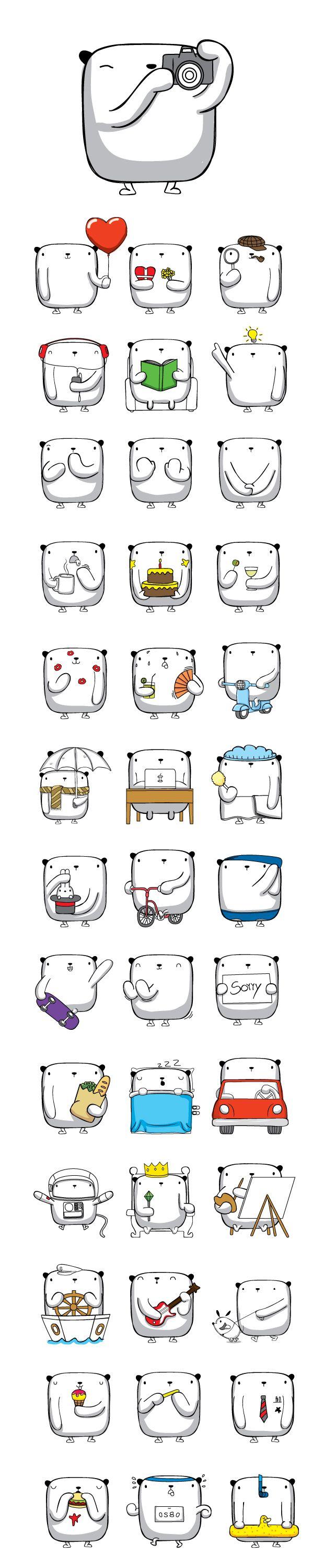 """OPI"" Stickers for Facebook Messenger on Behance"