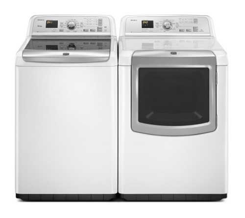Maytag Bravos XL HE Top Load Washer with PowerWash System and the High-Efficiency Electric Steam Dryer
