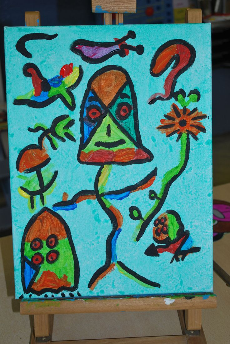 workshop kunst op doek in de klas inspiratie Miro