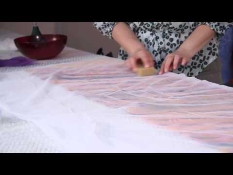 «Ручная работа». Шарф в технике нунофелтинг (1.07.2015) - YouTube