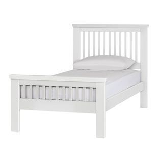 buy collection aubrey single bed frame white at argoscouk visit
