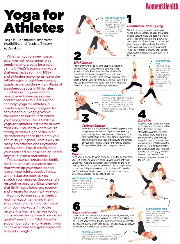 Yoga for Athletes from Women's Health Magazine