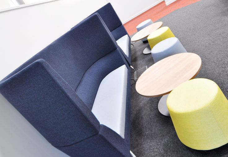 Swansea University: Science & Innovation Bay Campus.  Cwtch high back sofas with Sully stools.