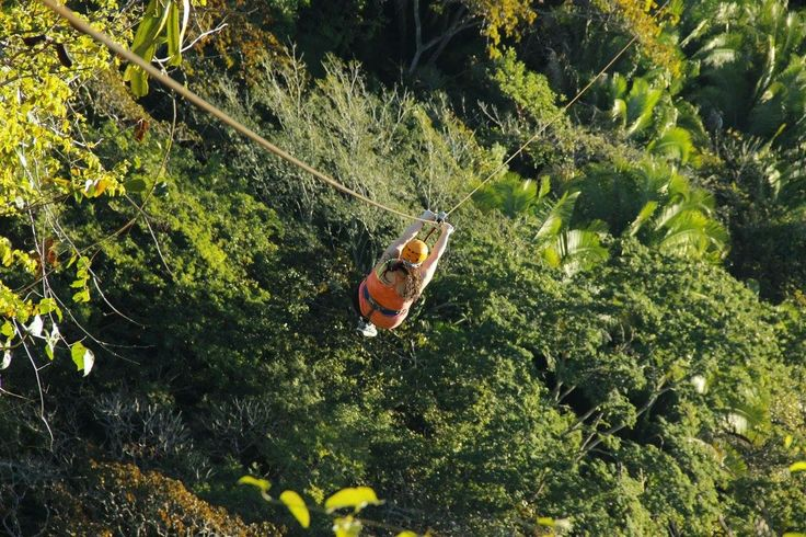 Me zip lining through the Sierra Madre Mountains, what a surreal experience.