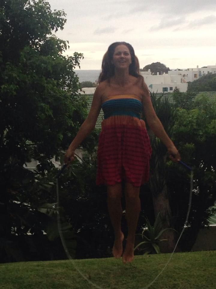 Margaret Westerhof taking Skip4Life to new heights! And how's that view of the sea! Shoto Mags!! www.skip4life.com