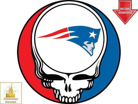 Grateful Dead New England Patriots Steal Your Face By