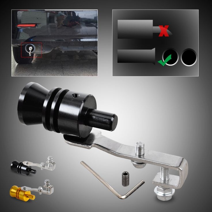 1x New Car Size L Turbo Sound Whistle Muffler Exhaust Pipe Auto Blow-off Valve Simulator for Ford Honda Nissan Toyota Volkswagen