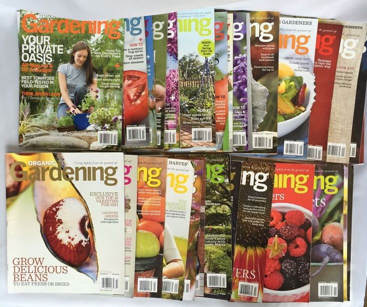 lot 30 organic gardening magazine back issue herbs