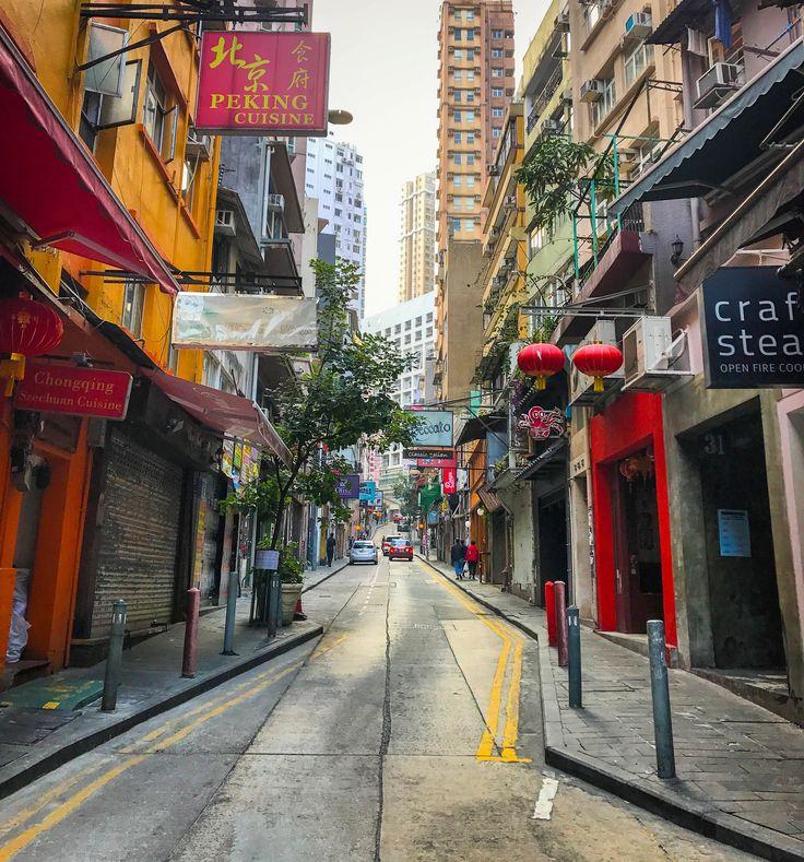 Early morning walk through Soho in Hong Kong.