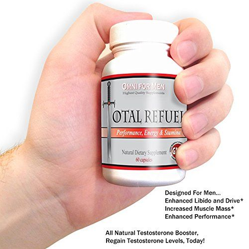 Natural Testosterone Booster. Male Enhancement Natural Herbal Supplement. Maximize Performance – Free Shipping for Amazon Prime Members. Energy & Stamina to Sustain & Elevate Your Alpha Man Power Get the Vitality You Deserve! Ships from Amazon and comes with A to Z Guarantee.  ★QUALITY ASSURANCE: Made In USA – 100% American – Total Refuel specialized blend is made with the Highest Grade (certified) natural extracts. Backed by herbal tradition and clinica