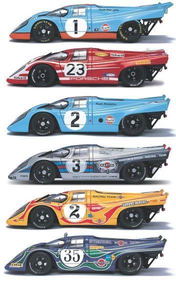 1970 Porsche 917K Collection Schön, dass Sie 6 Porsche-Marken haben   – Auto Design Ideen