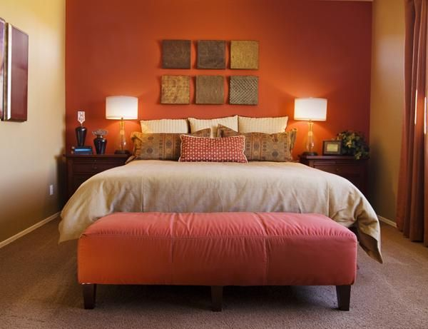 8 orange bedroom decoration ideas