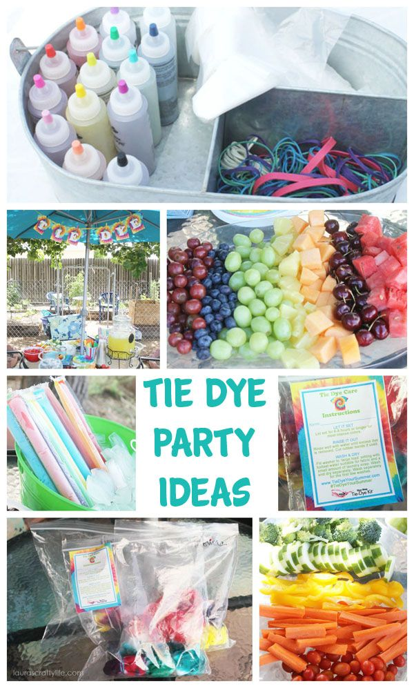 Tie Dye Party with @ilovetocreate Tie Dye kits and awesome free printable party decor