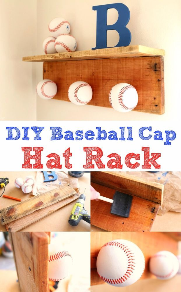 I built this hat rack as a fun project to help celebrate baseball season! This project is perfect for the kids room, game room or anywhere else you'd love to sh…