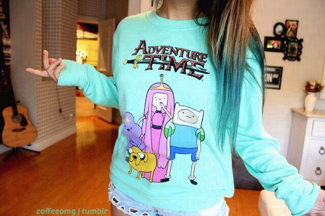 adventure time sweatshirt. ♡