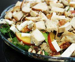 Orientalsk salat med perlebyg og fersken opskrift - Madkogebogen