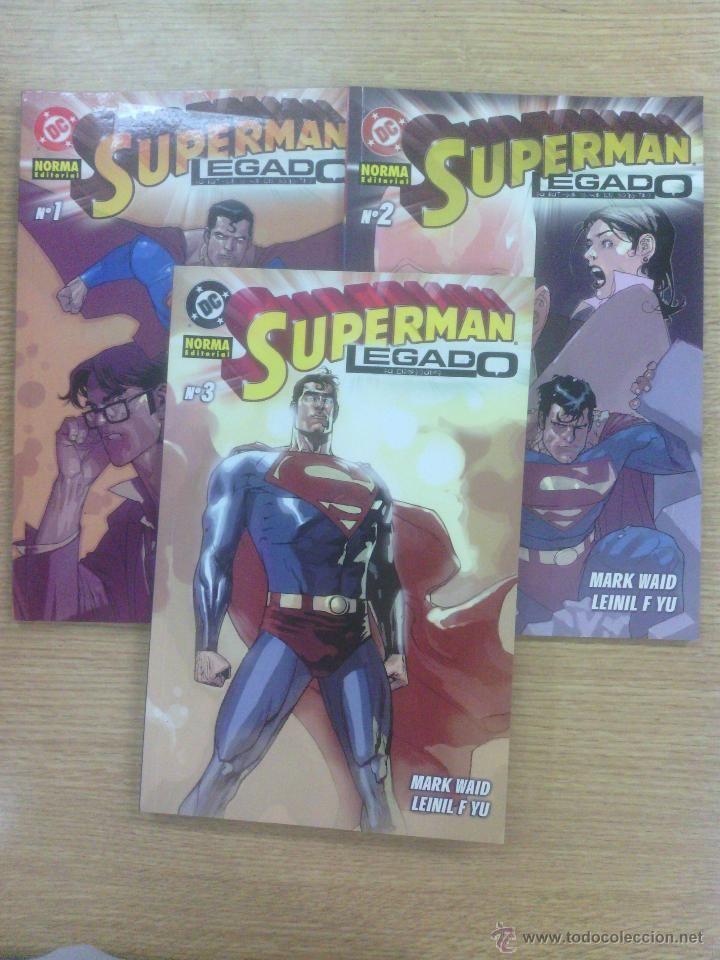 SUPERMAN LEGADO COLECCION COMPLETA (3 TOMOS) $9