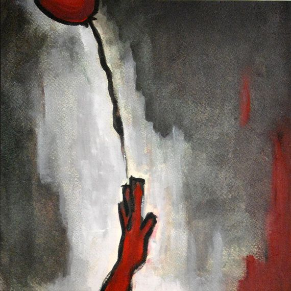 red balloon escaping.  fine art paper prints by mayabrittainPRINTS, €10.00